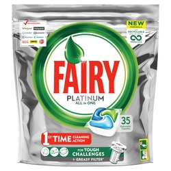 Fairy Platinum Dishwasher Tablets 35's