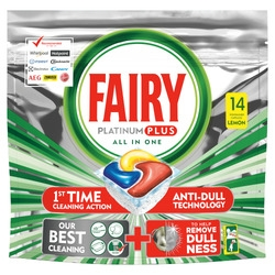Fairy Platinum Plus Lemon Dishwash Tablets 14's
