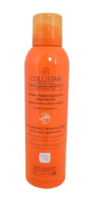 Collistar Moisturizing Tanning Spray SPF20 200ml Medium Protection