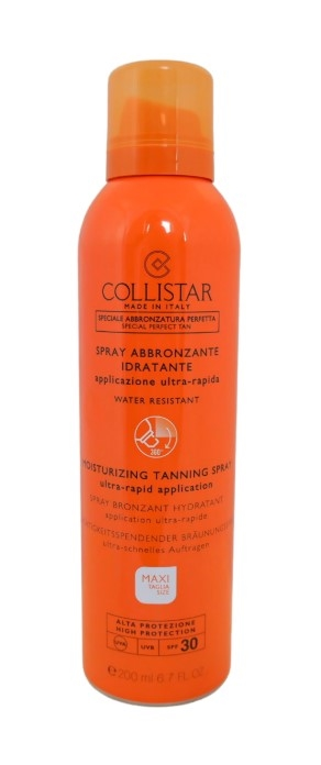 Collistar Moisturizing Tanning Spray SPF30 200ml Ultra Rapid Applicition