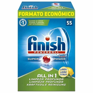 Finish All In 1 Max Dishwasher Tablets, Lemon - 55 Tabs