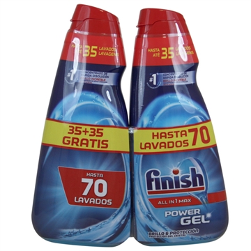 Finish Dishwasher Gel 2X700ml All In One Shine & Protection