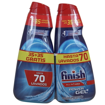 Finish Dishwasher Gel 2X700 ml All In One Shine & Protection