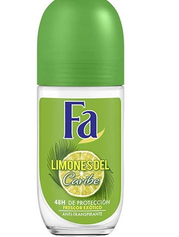 Fa Deodorant Roll-On Crystal 50 ml Caribbean Lemon