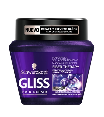 Gliss mascarilla nutritiva 300 ml Fiber therapy
