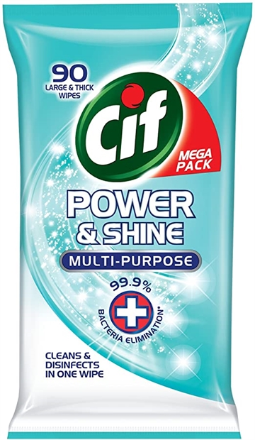 Cif Power & Shine Wipes Antibakteriell 90 '