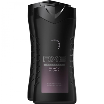 Axe Shower Gel 2x250ml Black Night