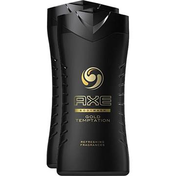Axe Shower Gel 2x250ml Gold Temptation