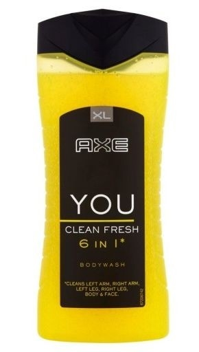 Axe shower gel 400ml YOU Clean Fresh 6in1
