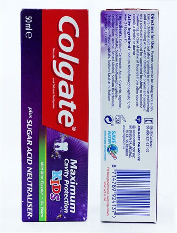 Colgate Tandkräm Max Cavity Kids 3+ Years 50ml
