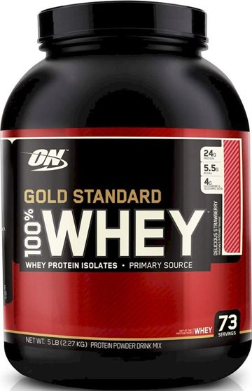 Optimum Nutrition 100% Whey Gold 2.27 kg delicious strawberry