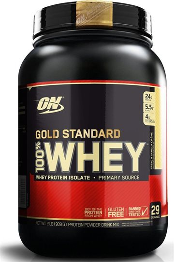Optimum Nutrition 100% Whey Gold 908g french vanilla crème