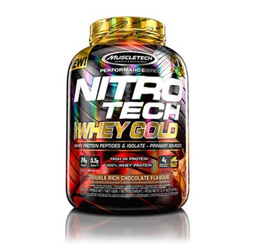 MuscleTech Nitro tech Performance Whey Gold 2.26kg double rich chocolate