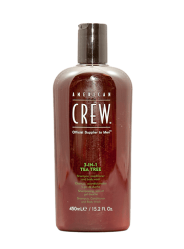 American Crew Tea Tree 3 in 1 Shampo, Conditioner and Body Wash 450 ml