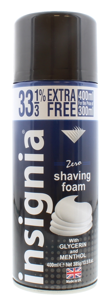 Insignia 400ml Shaving Foam Zero