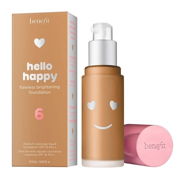 Benefit Hello Happy Brightening Foundation Medium Warm 06