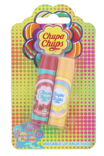 CHUPA CHUPS 2X4G LIP BALM DUO JUICY WATERMELON & PEACH PASSION