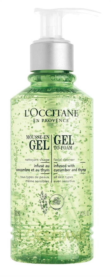 L'OCCITANE 200ML CLEANSING INFUSIONS GEL-TO-FOAM FACIAL CLEANSER