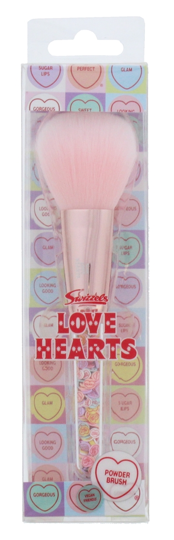 Love Hearts Filled Powder Brush