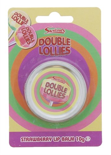 SWIZZELS DOUBLE LOLLIES 10G LIP BALM STRAWBERRY TIN