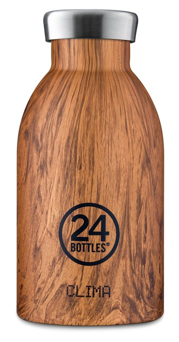 24 Bottles - Clima Bottle 0,33 L - Sequoia Wood