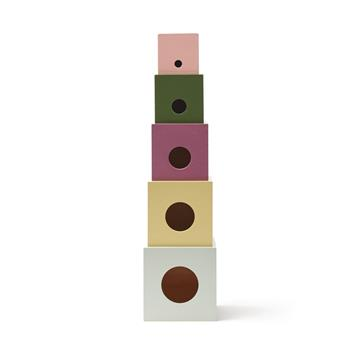 Kids Concept - Edvin - Cubes Wood 5 pcs (1000451)