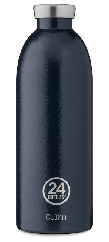​24 Bottles - Clima Bottle 0,85 L - Rustic Deep Blue (24B433)