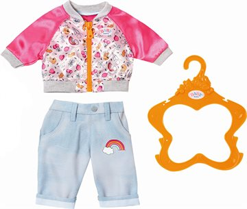 Baby Born - Casual Clothing Set - Jeans & Jacket - Pink