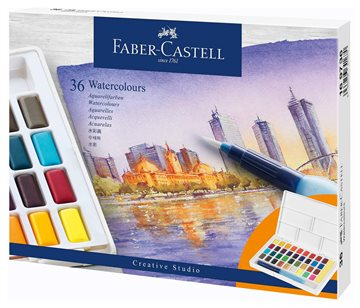 Faber-Castell - Watercolours in pans 36ct set (169736)