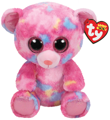 Ty Plush - Beanie Boos - Franky the Multicolored Bear (Medium) (TY36420)