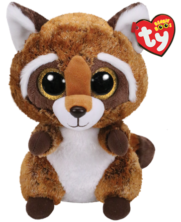 Ty Plush - Beanie Boos - Rusty the Raccoon (Medium) (TY36422)