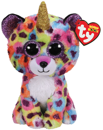 Ty Plush - Beanie Boos - Giselle the Rainbow Leopard (Medium) (TY36453)