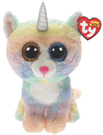 Ty Plush - Beanie Boos - Heather the Cat (Medium)(TY36454)