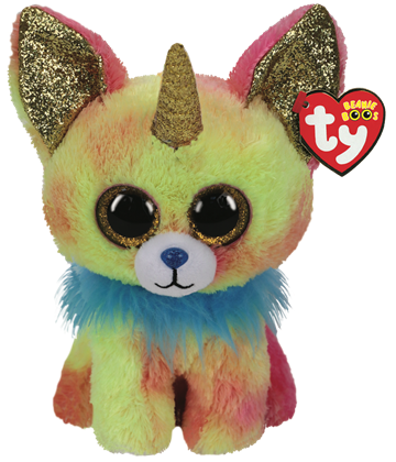 Ty Plush - Beanie Boos - Yips the Chihuahua with Horn (Medium)(TY36456)