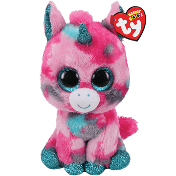 Ty Plush - Beanie Boos - Gumball the Unicorn (Medium) (TY36466)