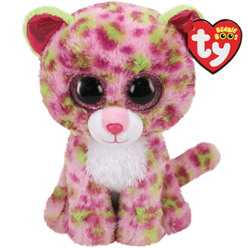 Ty Plush - Beanie Boos - Lainey the Pink Leopard (Medium) (TY36476)
