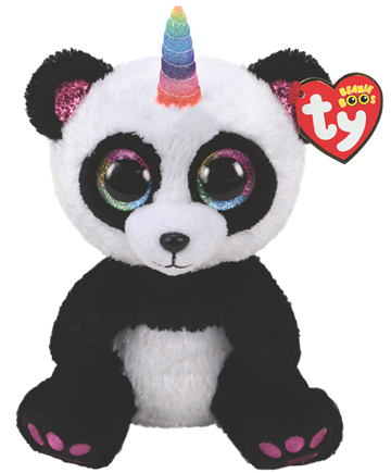 Ty Plush - Beanie Boos - Paris the Panda (Medium) (TY36478)