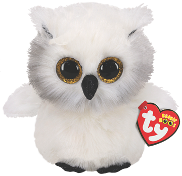 Ty Plush - Beanie Boos - Austin the White Owl (Medium) (TY36480)
