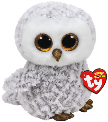 Ty Plush - Beanie Boos - Owlette the White Owl (Medium)(TY37086)