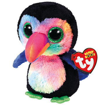 Ty Plush - Beanie Boos - Beaks the Toucan (Medium) (TY37264)