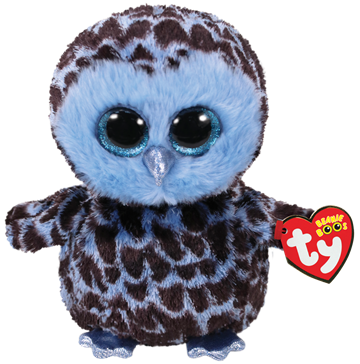Ty Plush - Beanie Boos - Yago the Blue Owl (Medium) (TY37267)