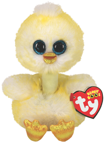 Ty Plush - Long Neck - Benedict the Chick (Medium) (TY37400)