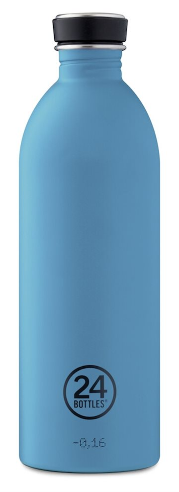 24 Bottles - Urban Bottle 1 L - Stone Finish - Powder Blue (24B751)