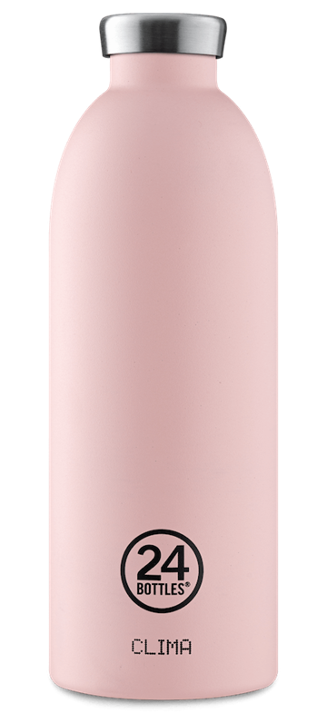 24 Bottles - Clima Bottle 0,85 L  - Stone Finish - Dusty Pink (24B446)