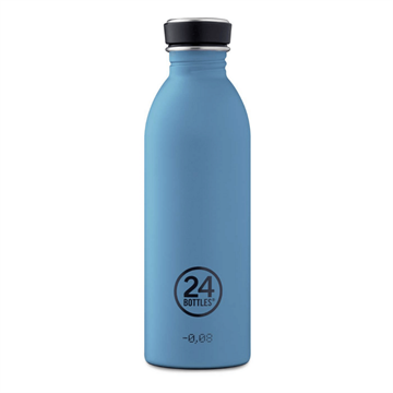 24 Bottles - Urban Bottle 0,5 L - Stone Finish - Powder Blue (24B700)