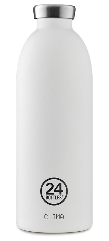 24 Bottles - Clima Bottle 0,85 L  - Stone Finish - Ice White (24B451)