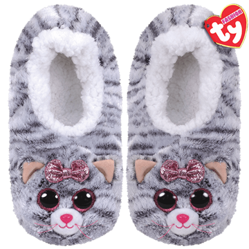 Ty Plush - Slippers - Kiki the Cat (Size: 36-38)(TY95360)
