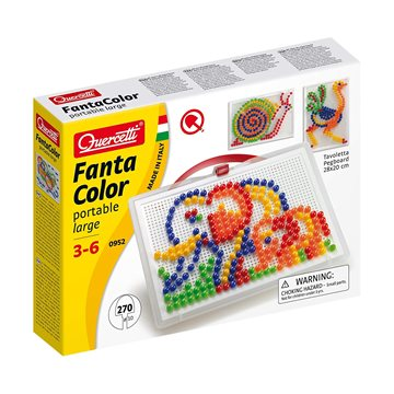 Quercetti - Fantacolour - 270 Pc Portable Peg Set (28-0952-00)