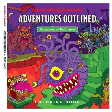 Dungeons and Dragons - Adventures Outlined Coloring Book (WTCC6035)