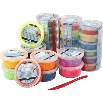 Foam Clay - Assorted Colours - 28 tubs (78816)